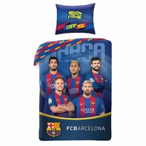 Bavlněné povlečení FC Barcelona 8016, 140 x 200 cm, 70 x 90 cm