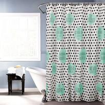 Sprchový závěs Jesika tyrkysová, 180 x 180 cm