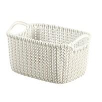 Curver 03675-X64 košík Knit XS 3 l, krémová