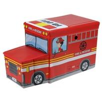 Box na hračky a sedátko Požiarne auto