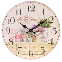 Nástěnné hodiny Flowers, pr. 34 cm