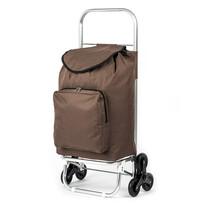 Nákupná taška na kolieskach Milano hnedá