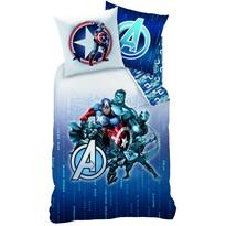 Dětské bavlněné povlečení Avengers Blue Code, 140 x 200 cm, 70 x 90 cm