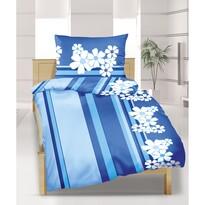 Krepové obliečky Modrý kvet