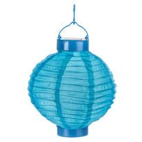 Solární LED lampión modrá, pr. 20 cm