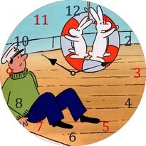Zegar naścienny Bob i Bobek, 34 cm