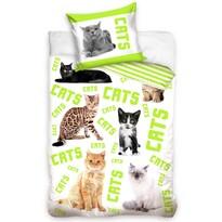 Bavlnené obliečky Cats, 140 x 200 cm, 70 x 90 cm