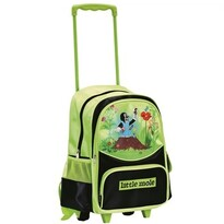 Bino Detský batoh na kolieskach s Krtkom, zelená