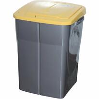 Kôš na triedený odpad 51 x 36 x 36,5 cm, žlté veko, 45 l