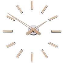 Future Time FT9600CM Modular champagne Designové samolepicí hodiny, pr. 60 cm