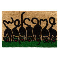 Kokosová rohožka Mačky, 40 x 60 cm