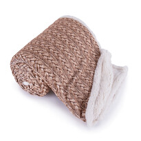 Pătură imitaţie de blană Maglia, maro, 150 x 200 cm