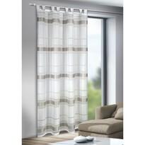 Záclona s pútkami Mandy strieborná, 135 x 245 cm