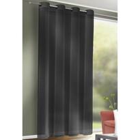 Zasłona z kółkami Till antracyt, 140 x 245 cm