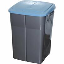 Coş de sortare deşeuri, 51 x 36 x 36,5 cm, capac albastru, 45 l