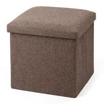 Úložný sedací box Tessile hnědá, 38 x 38 x 38 cm