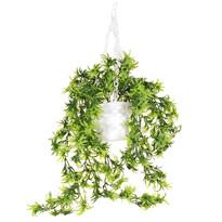 Umělá květina v závěsném květináči, 58 cm