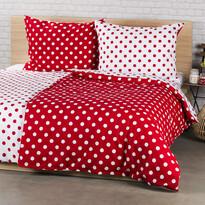 4Home pamut ágynemű Piros pöttyös