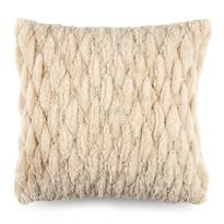 Poszewka na poduszkę włochata pikowana beżowy, 45 x 45 cm