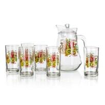 Džbánový set Kiwi, 1 džbán a 6 pohárov