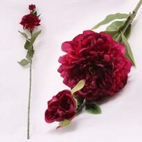 Umelá kvetina pivonka tmavo ružová