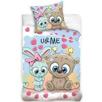 Bavlněné povlečení U & Me Cute Friends, 140 x 200 cm, 70 x 80 cm