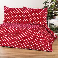 4Home bavlnené obliečky Červená bodka, 220 x 200 cm, 2 ks 70 x 90 cm