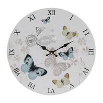 Nástenné hodiny Butterfly, modrá