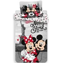 Dětské bavlněné povlečení Mickey and Minnie in New York, 140 x 200 cm, 70 x 90 cm