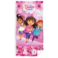 Ręcznik kąpielowy Dora i przyjaciele, 70 x 140 cm