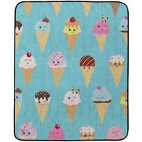 Butter Kings Kempingová deka Happy Ice creams, 145 x 180 cm