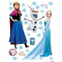Samolepicí dekorace Elsa a Anna, 30 x 30 cm