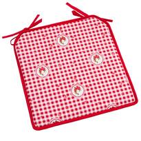 Siedzisko Country kratka czerwony, 40 x 40 cm