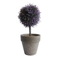 StarDeco Sztuczne drzewko w doniczce fioletowy, 27 cm