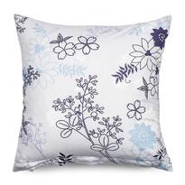 Poszewka na poduszkę-jasiek Lilanabiały + fioletowy, 40 x 40 cm