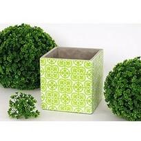 Betonový obal na květináč Ornament, zelená