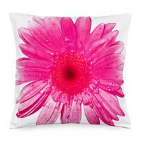 Rózsaszín virág párnahuzat, 45 x 45 cm