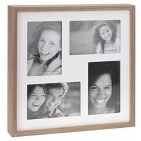 Ramka do 4 zdjęć Wood, biały + brązowy
