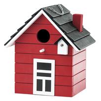 Vtáčia búdka domček, červená