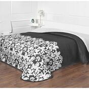Prehoz na posteľ Versaille čiernobiela