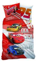 CTI Dziecięca pościel bawełniana Cars Go Go Go, 140 x 200 cm, 70 x 90 cm