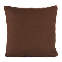 Poszewka na poduszkę-jasiek płóciennabrązowy, 40 x 40 cm