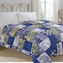 Cuvertură de pat Imprimeu albastru, 220 x 240 cm