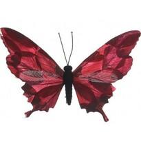 Dekorační Motýlek červená, 20 cm