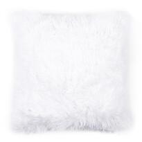 Párnahuzat Peluto Uni szőrӧs fehér, 40 x 40 cm