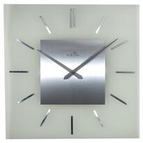 Nextime Stripe Square DCF 3148 nástěnné hodiny stříbrná, pr. 40 cm