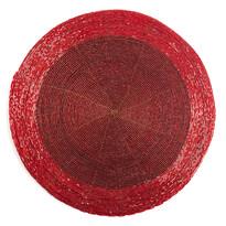 Prostírání z korálků Bead červená, 30 cm