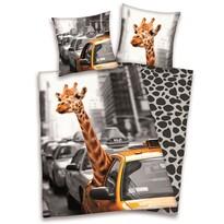 Bavlněné povlečení Žirafa v taxíku, 140 x 200 cm, 70 x 90 cm