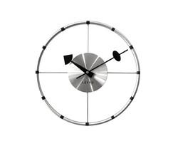 Zegar ścienny Lavvu Compass srebrny, śr. 31 cm