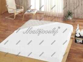 Prześcieradło frotte Matějovský białe, 160 x 200 c